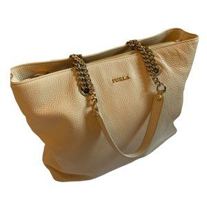 Furla Julia Chain Leather Tote Bag Large